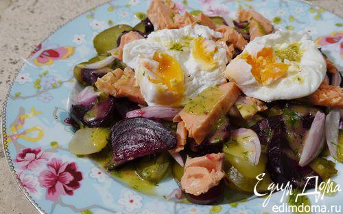 Рецепт Салат из рыбы, картофеля и свеклы
