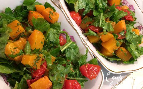 Рецепт Теплый салат из тыквы