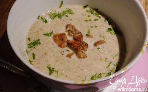 Рецепт Грибной суп с луком-пореем