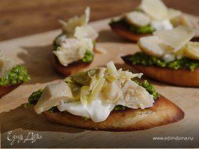 Брускетта с нутом и шпинатом - кулинарный пошаговый рецепт с фото на KitchenMag.ru