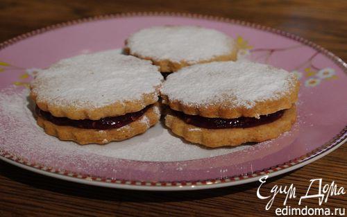 Рецепт Печенюшки с малиновым джемом