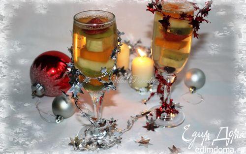 Рецепт Фруктово-ягодный десерт с шампанским