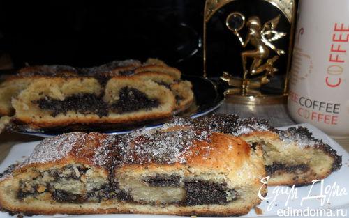 Рецепт Творожный рулет с маком и шоколадом
