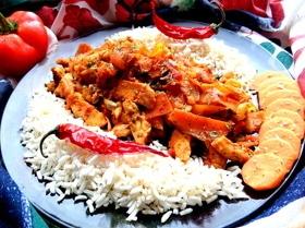 Куриное филе с карри и овощами