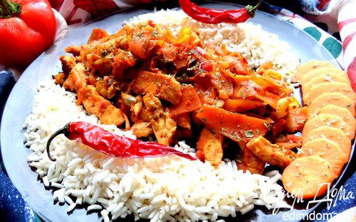 Рецепт Куриное филе с карри и овощами