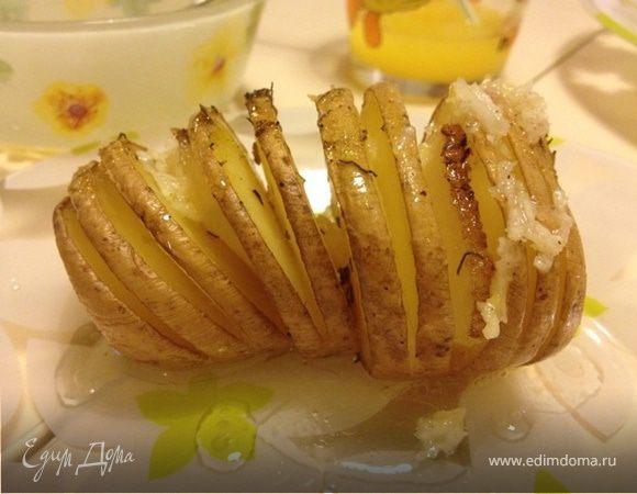 Запеченная картошка с чесночной заправкой