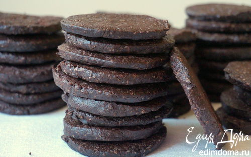 Рецепт Шоколадное вафельное печенье