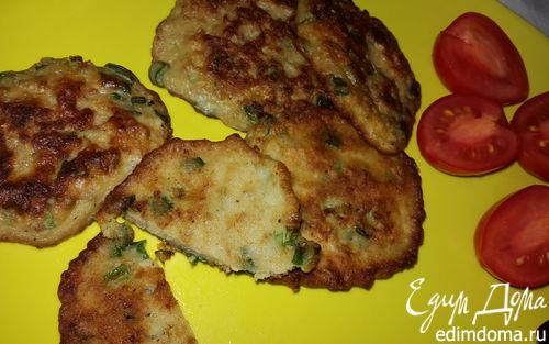 Рецепт Мясные оладьи с зеленым луком