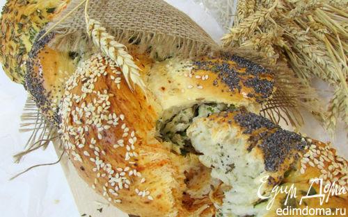 Рецепт Хлеб с зеленью и красным перцем