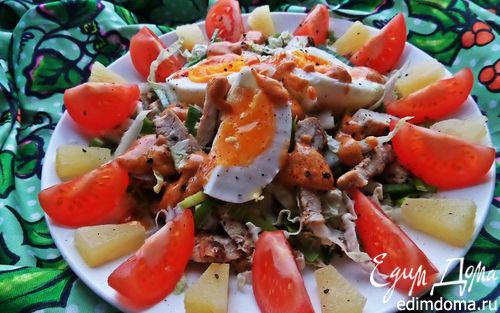Рецепт Салат с курицей и пекинской капустой