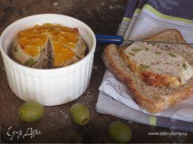 Куриный паштет с оливками и апельсинами