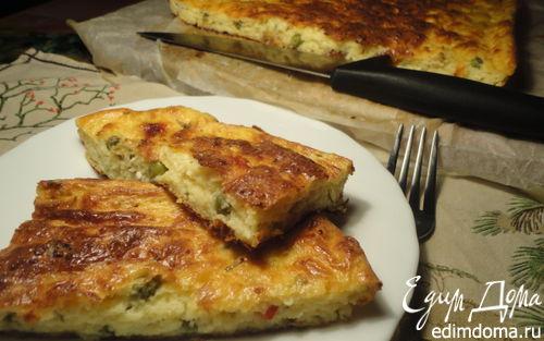 Рецепт Творожная запеканка с сыром и овощами