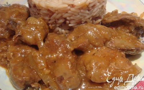 Рецепт Куриная печень в пикантном соусе