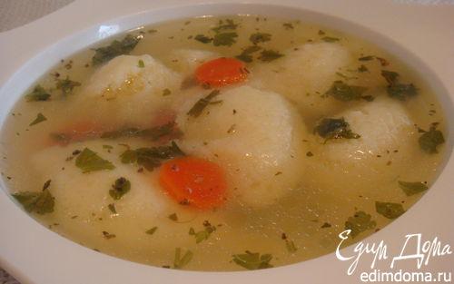 Рецепт Суп с манными клецками