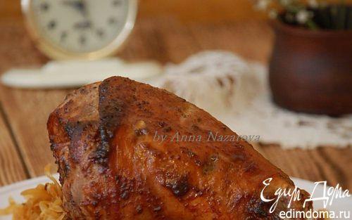 Рецепт Голень индейки, запеченная в пряном маринаде
