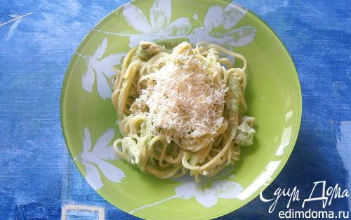 Рецепт Спагетти с курицей и соусом из брокколи