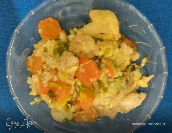 Запеканка из овощей с рыбой