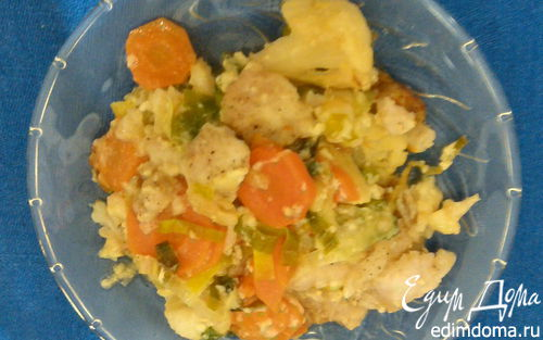 Рецепт Запеканка из овощей с рыбой
