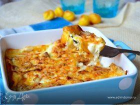 Ньокки-суфле под грибным соусом бешамель