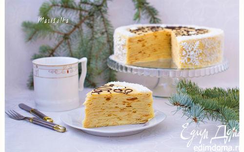Рецепт Слоеный торт с заварным кремом