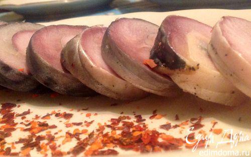 Рецепт Рулеты из соленой скумбрии домашнего приготовления