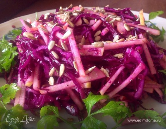 Салат из синей капусты