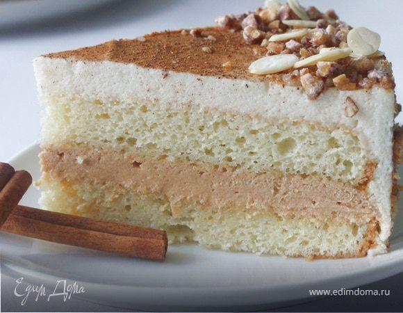Яблочно-карамельный торт