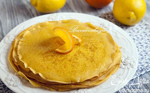 Рецепт Тыквенно-лимонные блины
