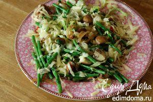Грибы с фасолью и капустой под ароматной сырной корочкой