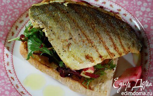 Рецепт Тосты с рыбой карри и свекольным салатом