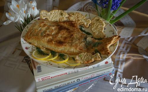 Рецепт Лосось со шпинатом, запеченный в тесте