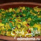 Рис с авокадо и овощами, запеченный в глиняных тарелках