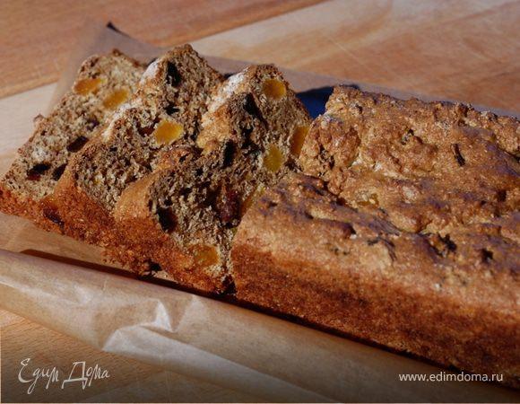 Домашний хлеб с отрубями, изюмом и курагой
