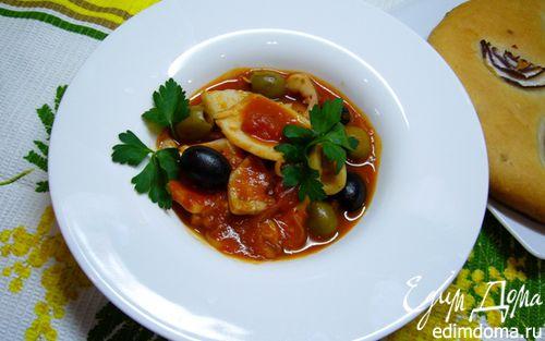 Рецепт Кальмары в томатном соусе