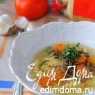 Суп с пастой и вешенками