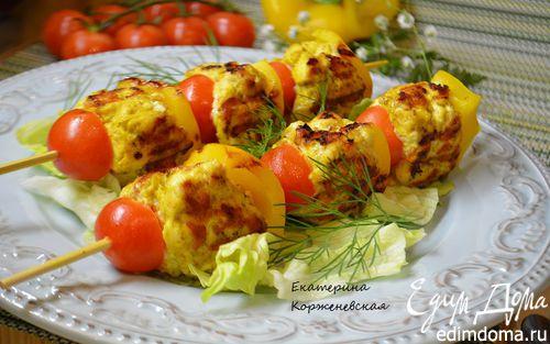 Рецепт Шашлыки из рубленного мяса с овощами