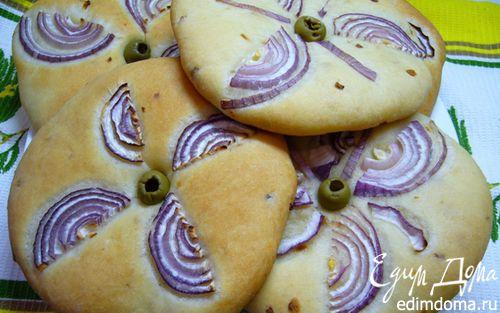 Рецепт Лепешки с луком на оливковом масле