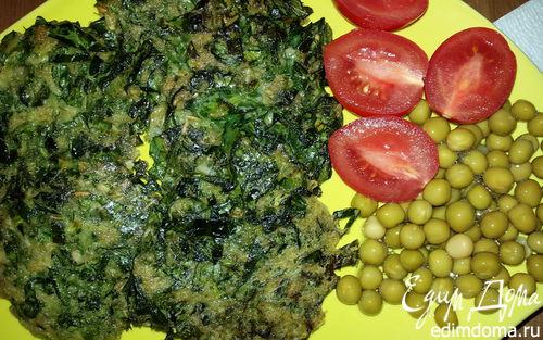 Рецепт Оладьи из листовой капусты с овсяными хлопьями и зеленью
