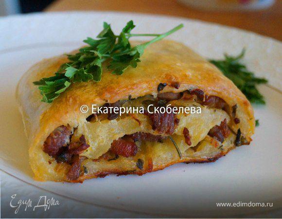 Мекленбургский картофельный рулет с начинкой из мяса и зелени
