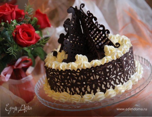 Гречневый торт с брусничным компотом