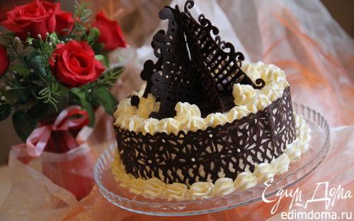 Рецепт Гречневый торт с брусничным компотом