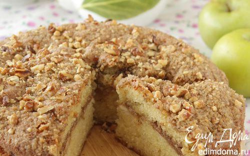 Рецепт Кекс с яблоками и грецкими орехами