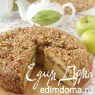 Кекс с яблоками и грецкими орехами
