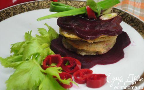 Рецепт Кабачки в кляре с маринованной свеклой