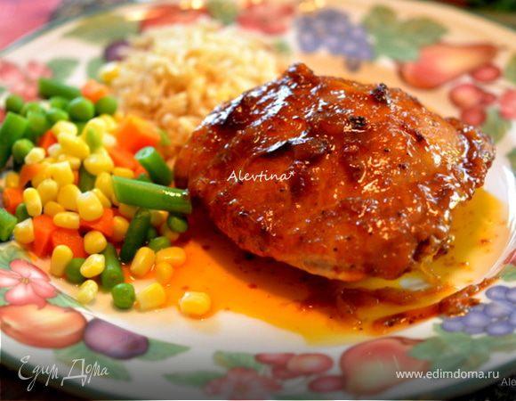 Курочка барбекю на сковороде