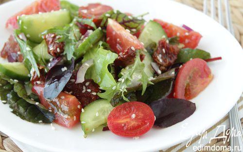 Рецепт Салат из овощей с вялеными томатами