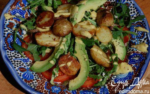 Рецепт Картофельный салат с авокадо и домашним майонезом