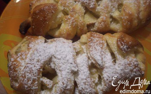 Рецепт Булочки-косички с яблоками