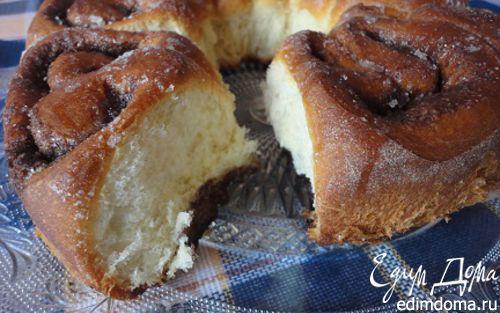 Рецепт Плюшки с корицей в сахарной глазури