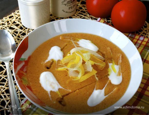 Холодный томатный суп-пюре